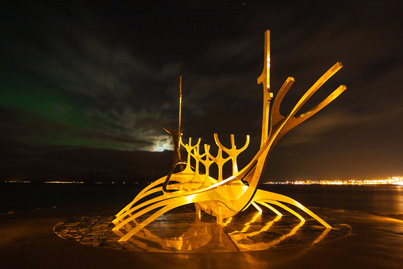 The Sun Voyager - heading for the moon and the stars - Reykjavik, Iceland