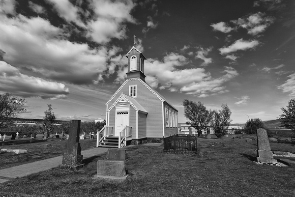 Old country church, Reykholt, southwestern Iceland
